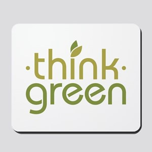 Think Green [text] Mousepad